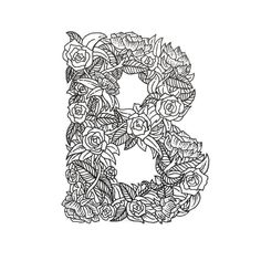 B is for beautiful flowery letters. Type by @boelterdesignco | #typegang if you would like to be featured | typegang.com by type.gang