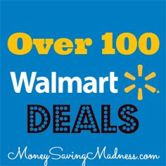 Walmart:  Over 100 Deals with Coupons   {FREE ITEMS!} on http://www.moneysavingmadness.com