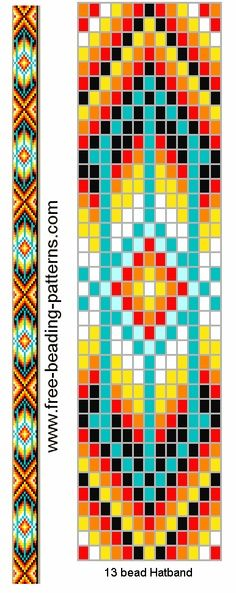 Free Loom Bead Patterns | bead loom belt hat band pattern