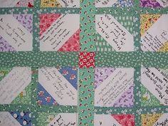 O'Quilts: Marie's birthday signature quilt/p.s. i quilt: siggy block tutorial