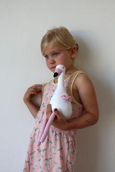 Crochet flamingo by CountSheepShop on Etsy