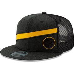 Men s Pittsburgh Steelers New Era Heathered Black Label Scale Trucker  9FIFTY Adjustable Snapback Hat b40498ffa