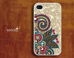 iphone case iphone 4s case iphone 4 cover sweet colorized classic flower unique Iphone case. $13.99, via Etsy.