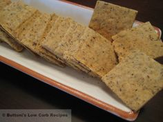 """I have several good cracker recipes now, since I've been low-carbing for 5 years. But this one bumps all the rest out of the water in the flavor and """"crispness"""" departments. Recipie makes 2 large pans full."""