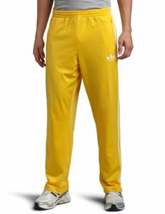 yellow adidas pants