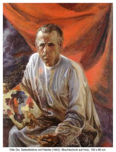 autoportrait avec la palette,100x80, 1942