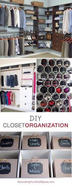 DIY Closet Organization Tips! Love! #Home #Garden #Trusper #Tip