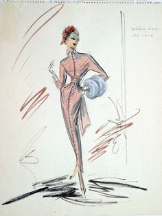 Edith Head sketch for Vera Miles in Beau James (1957)