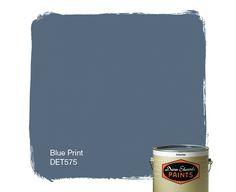 Dunn-Edwards Paints paint color: Blue Print DET575 | Click for a free color sample #DunnEdwards