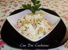 Ensalada de pasta con salmón Salmon, Cabbage, Grains, Rice, Vegetables, Food, Salmon Pasta, Pasta Salad, Smoker Cooking