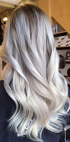 Shadow root and ice blonde balayage