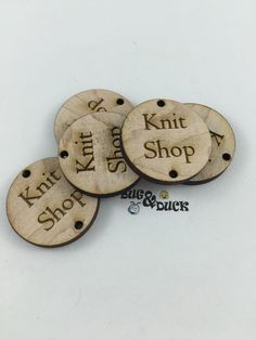 10 Custom Circle Tags/1 inch/Solid Wood