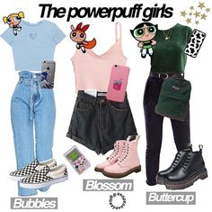 Source by outfits casual Powerpuff Girls Halloween Costume, Vsco Girl Halloween Costume, Cute Group Halloween Costumes, Halloween Outfits, Group Costumes, Couple Halloween, Themed Outfits, Girl Outfits, Cute Outfits