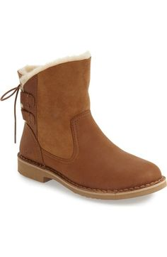 UGG Naiyah Genuine Shearling Lace Back Bootie (Women). #ugg #shoes #boots