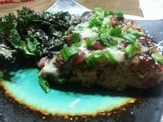 BBQ Mushroom bacon Swiss stuffed turkey  meatloaf... Paleo/Primal..Country Cavegirl Paleo Cuisine.