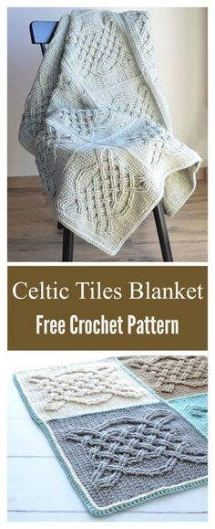 Celtic Tiles Blanket Free Crochet Pattern craft projects and home improvement projects . - Celtic Tiles Blanket Free Crochet Pattern craft projects and home improvement projects for …, - Crochet Afghans, Crochet Motifs, Crochet Squares, Granny Squares, Crochet Square Blanket, Crochet Stitches, Chat Crochet, Crochet Gratis, Crochet For Kids