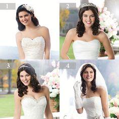 welke haar accessoire zou jij kiezen voor je trouwdag. bruidsmode Charina