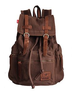 Unisex brown coffee canvas bag - Available from amazon