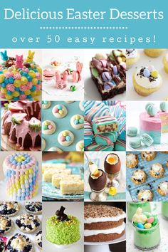 These Easter desserts are perfect for brunch or dinner! Choose from cakes, cheesecake, bars, cups, cookies . . . cute, easy, and delicious. Easter Egg Cake, Easter Cupcakes, Easter Cookies, Strawberry Macarons Recipe, Macaron Recipe, Cobbler Bread Recipe, Fun Easy Recipes, Delicious Recipes, Mini Lemon Tarts