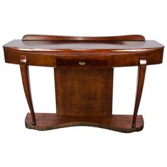 1940s French Console | From a unique collection of antique and modern console tables at https://www.1stdibs.com/furniture/tables/console-tables/