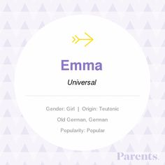 Emma: Baby Name, Meaning & Origin Vintage Baby Girl Names, Cute Baby Girl Names, Pretty Girls Names, Vintage Names, Unique Baby Names, Boy Names, Names With Meaning, Name Meanings, Rare Names