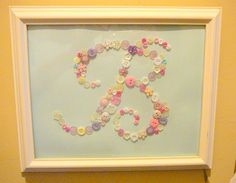 Personalized Button Art or Monogram with Frame by LorraineMichael, $35.00