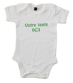 Body bébé personnalisé avec prénom ou texte de votre choix Onesies, Kids, Clothes, Fashion, Young Children, Outfits, Moda, Boys, Clothing