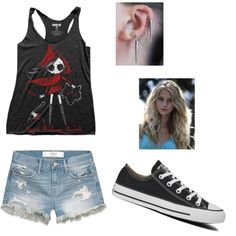 Dead riding hood by jazzyboo-395 on Polyvore featuring polyvore, fashion, style, Abercrombie & Fitch and Converse