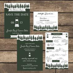Printable PDF Rustic Lantern Weekend Wedding by ZSDesign on Etsy