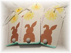 Bunny Butts Easter Tags 6 by HeartsCalling on Etsy, $3.00