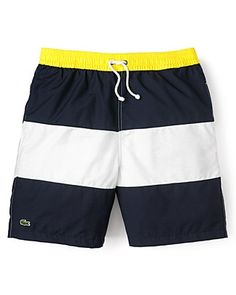"#Menswear #Swim #Trunks - Lacoste Color-Block 6"" Swim Trunks 