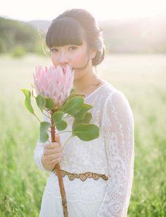 green wedding shoes | bride | king protea flower | wedding dress | bridal portrait | wedding photography