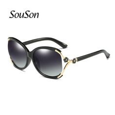 #SUNGLASSES #NEW 2017 Souson Brand women Sunglasses Polarized fahsion Sunglass For Women with Box flower frame 5 colors