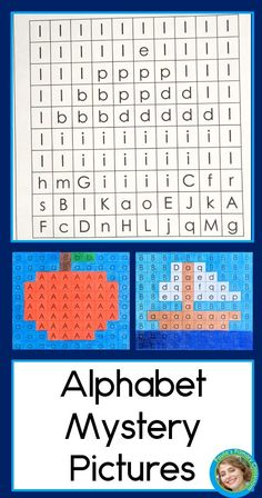 Just right for preschool and kindergarten students who are working on letter learning: a mystery picture for every letter of the alphabet!  Your children will color by letter to reveal the hidden pictures, which correspond to the letters they're practicing.  Visually similar letters are practiced together so students focus on the print.  This is a fun way to practice letter recognition and initial sounds while also strengthening hand muscles through coloring. Ready to print and go! TpT $ Kindergarten Reading Activities, Reading Resources, Preschool Activities, Teacher Resources, Teaching Ideas, Abc Learning, Learning Letters, Alphabet Worksheets, Preschool Worksheets