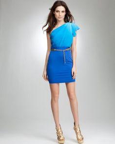 3073bf6da4 Bebe Colorblock Flutter Sleeve Dress Vivid Ombre 4 Size X-Small