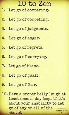 letting go & laughing // zen #healthy #happy