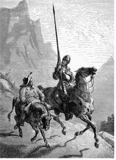 Don Quixote de la Mancha and Sancho Panza, 1863, by Gustave Doré.