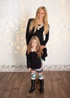 7ee5cbc9e4 Mommy and Me Girls Native Orange Aztec Legging - Ryleigh Rue Clothing by Modern  Vintage Boutique