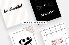Wall Art, freebies para décor de quarto ou home office.