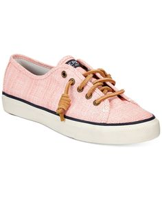 Casual, preppy style is a step away thanks to the Seacost sneakers by Sperry Top-Sider. | Twill upper; rubber outsole | Imported | Round closed-toe sneakers  | Adjustable rawhide lacing system with ru