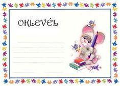 Játékos tanulás és kreativitás: Oklevelek a tanév végére Behavior Interventions, Kids Vector, Special Education, Mini, Graphic Art, Crafts For Kids, Preschool, Presents, Teddy Bear