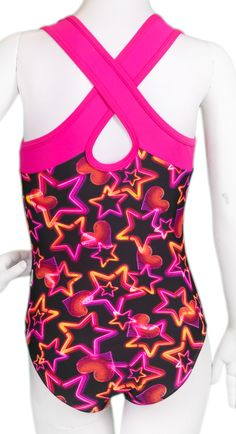 Berry Neon Lights Leotard (Alternate View) #leotards #gymnastics #leotard #gymnast