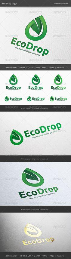 Eco Energy Drop  #GraphicRiver    (Nice logo design for my inspiration)