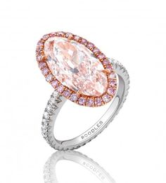 Boodles: Oval Pink Diamond Ring