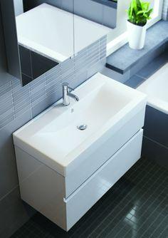 Badmeubel met beton cire blad en dubbele waskom een meubel met karakter en stijl bathroom - Stenen wastafel ...
