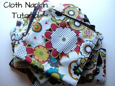 Double-sided cloth napkin tutorial
