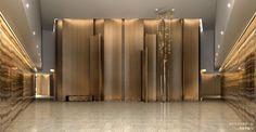 Skyz Tower and Garden Entrance Lobby Interior, Interior Exterior, Interior Architecture, Interior Design, Hotel Lobby, Lobby Lounge, Lobby Design, Grand Hall, Elevator Lobby