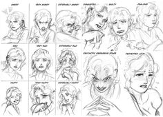 Practice - Facial Expressions sketch by TakataRikuzen on DeviantArt