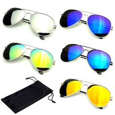 Silver Green Mirror 2015 HD Polarized Mirrored Reflective Fashion Aviator Sunglasses Eyewear