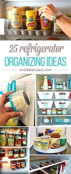 These tricks to organize your fridge are BRILLIANT! There are some clever people out there who really know how to stay organized! I love the awesome use of binder clips!!